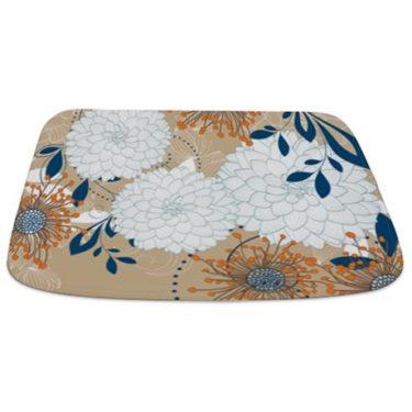 Pretty Asian-Inspired Mums 05 Bathmat