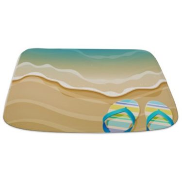 Pretty Beach Flip Flops Bathmat