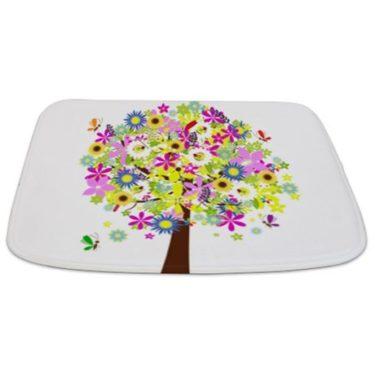 Pretty Flowers Tree Bathmat