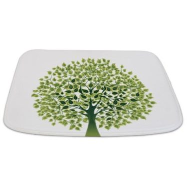 Pretty Modernist Green Tree 1 Bathmat