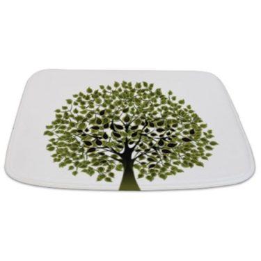 Pretty Modernist Green Tree 2 Bathmat