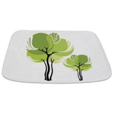Pretty Modernist Green Tree 6 Bathmat