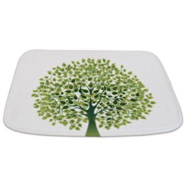 Pretty Modernist Green Tree Bathmat
