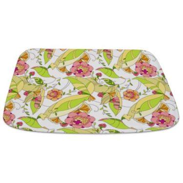 Pretty Whimsical Floral 1 Bathmat