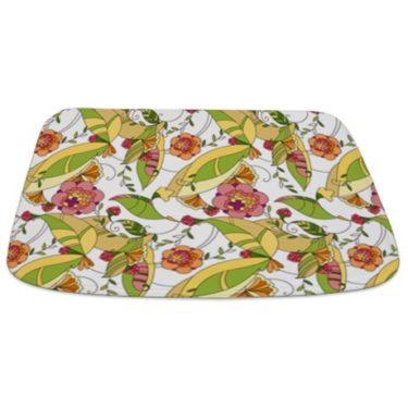 Pretty Whimsical Floral 2 Bathmat