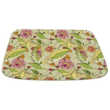 Pretty Whimsical Floral 3 Bathmat