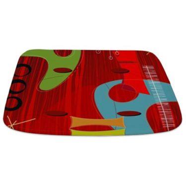 Retro 1960s Design 1 Bathmat