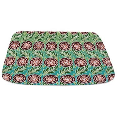 Retro Flower pattern Bathmat