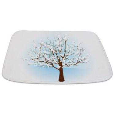 Seasonal Tree Winter Bathmat