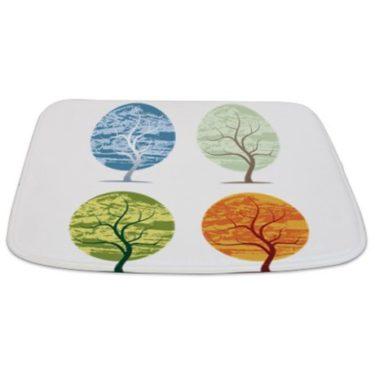 Seasonal Trees Composite 1 Bathmat
