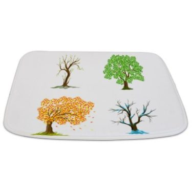 Seasonal Trees Composite 2 Bathmat