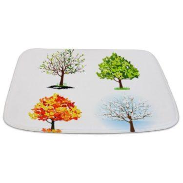 Seasonal Trees Composite 3 Bathmat