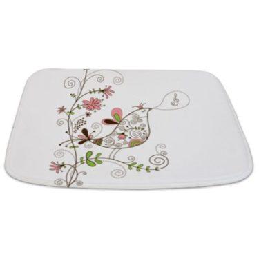 Singing Floral Bird Bathmat