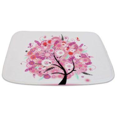 Spring Pink Floral Tree Bathmat
