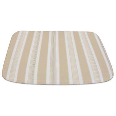 Stripes Beige Bathmat