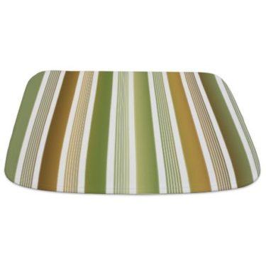 Stripes Brown Green Gradient Bathmat