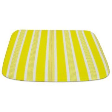 Stripes Lemon Yellow Bathmat