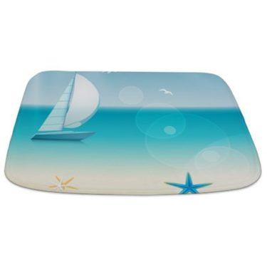 Summer Beach Scene Bathmat