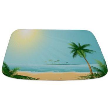 Tranquil Tropical Beach Bathmat