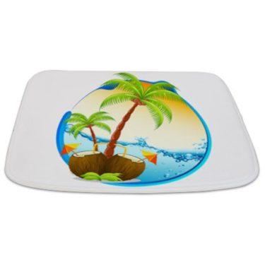 Tropical Beach Porthole Bathmat