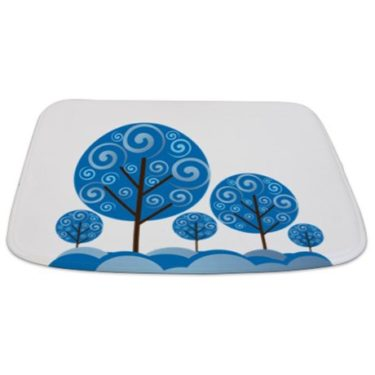 Whimsical Blue Tree 10 Bathmat