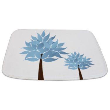 Whimsical Blue Tree 14 Bathmat