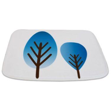Whimsical Blue Tree 15 Bathmat