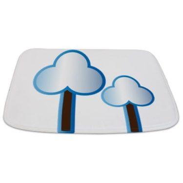 Whimsical Blue Tree 16 Bathmat