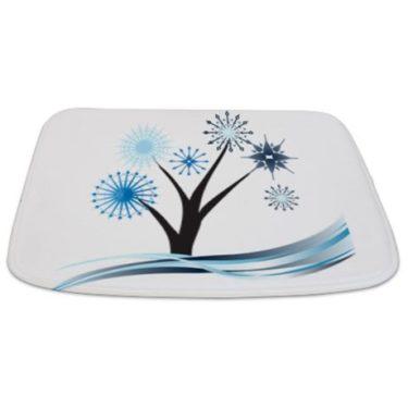 Whimsical Blue Tree 18 Bathmat