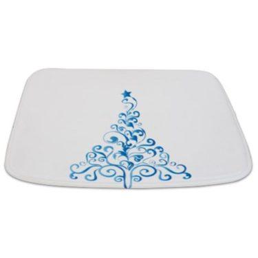 Whimsical Blue Tree 19 Bathmat
