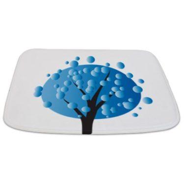 Whimsical Blue Tree 1 Bathmat