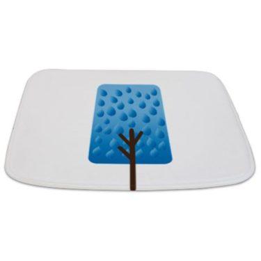Whimsical Blue Tree 2 Bathmat