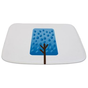 Whimsical Blue Tree 3 Bathmat