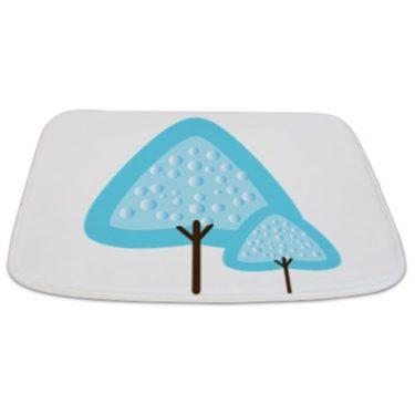 Whimsical Blue Tree 4 Bathmat