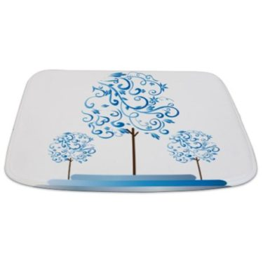 Whimsical Blue Tree 5 Bathmat