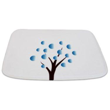Whimsical Blue Tree 7 Bathmat