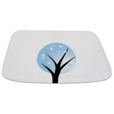 Whimsical Blue Tree 9 Bathmat
