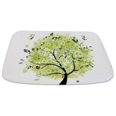 Whimsical Bright Early Summer Tree 1 Bathmat