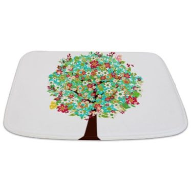 Whimsical Bright Late Summer Tree 2 Bathmat