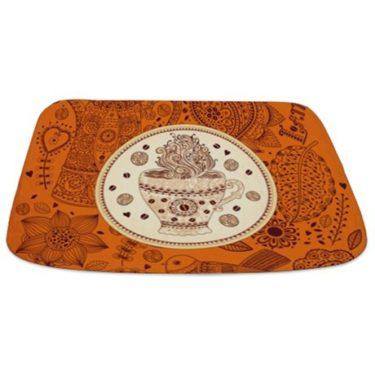 Whimsical Coffee Theme Bathmat