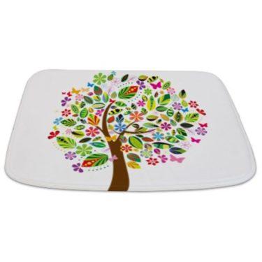 Whimsical Floral Tree Bathmat