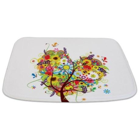 Makanahele Com Whimsical Heart Of Flowers Bathmat