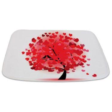 Whimsical Love Tree Bathmat