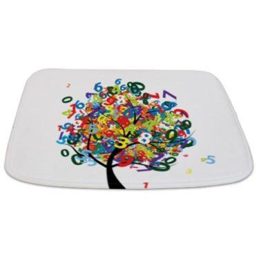 Whimsical Numbers Tree Bathmat