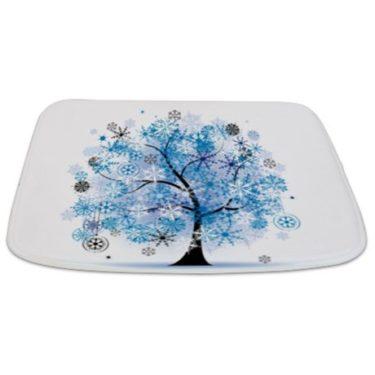 Winter Snowflake Tree Bathmat