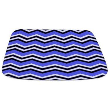 Zigzag 2a Blue Bathmat