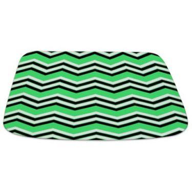Zigzag 2a Green Bathmat