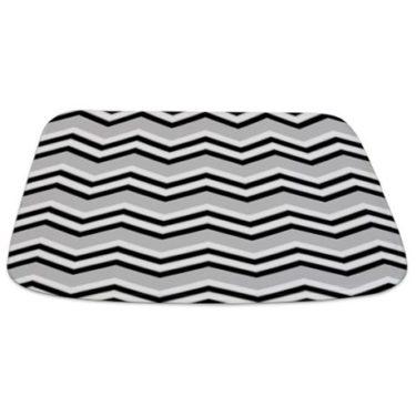 Zigzag 2a Grey Bathmat