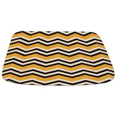 Zigzag 2a Orange Bathmat