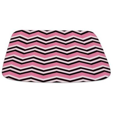 Zigzag 2a Pink Bathmat